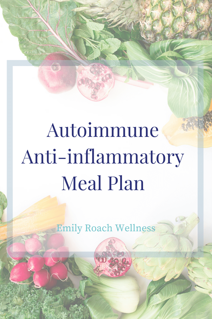 Here's what the doctor forgot to tell you about nutrition for autoimmune conditions. Here's an Autoimmune Meal Plan with Recipes.