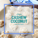 Lemon cashew coconut energy ball recipe feature