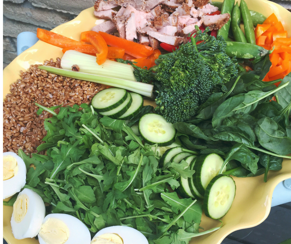 DIY Summer Cobb salad with chicken, or swap in tuna or salmon. Delicious summer recipe ready in minutes!