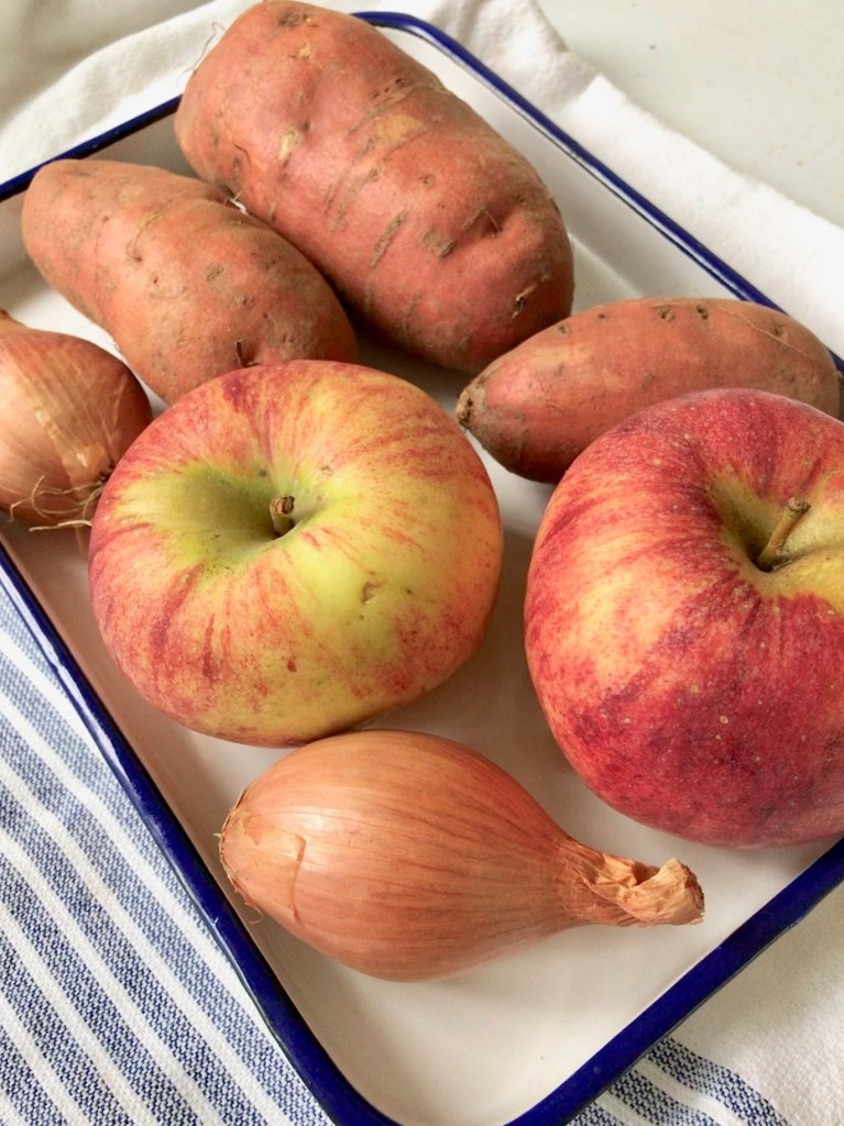 Sweet Potato and Apple Soup ingredients