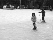 Even the smallest of children can get into skiing.