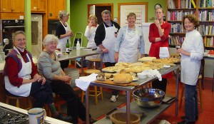 The students tasting their breads, January, 2010.