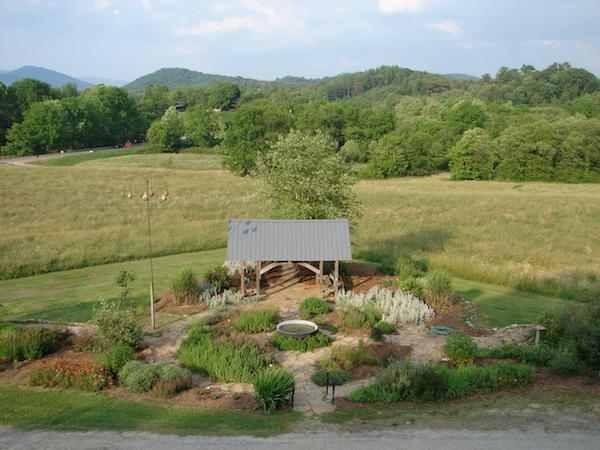 the herb garden at the folk school