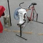 A bike-powered grain grinder