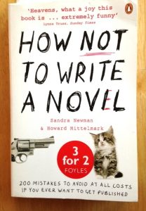 book cover of How Not to Write a Novel, which shows gun pointing at kitten