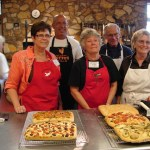 Students posed with their focaccia