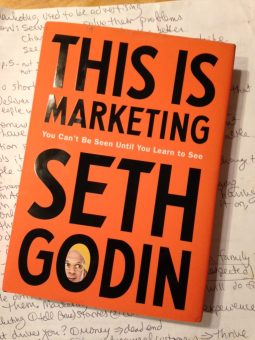 the cover of the book This Is Marketing, which is mostly text