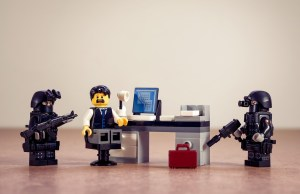 Lego police arrest Lego office man