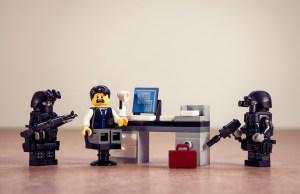 Lego police arrest Lego office man