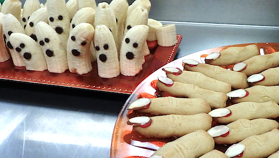 The witch fingers are scaring the banana ghosts.