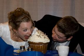 Bride and Groom Giant Cupcake