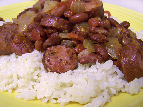 Garlicky Red Beans and Pork