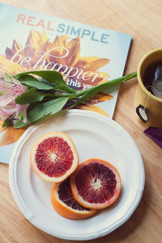 Blood oranges flowers tea magazine