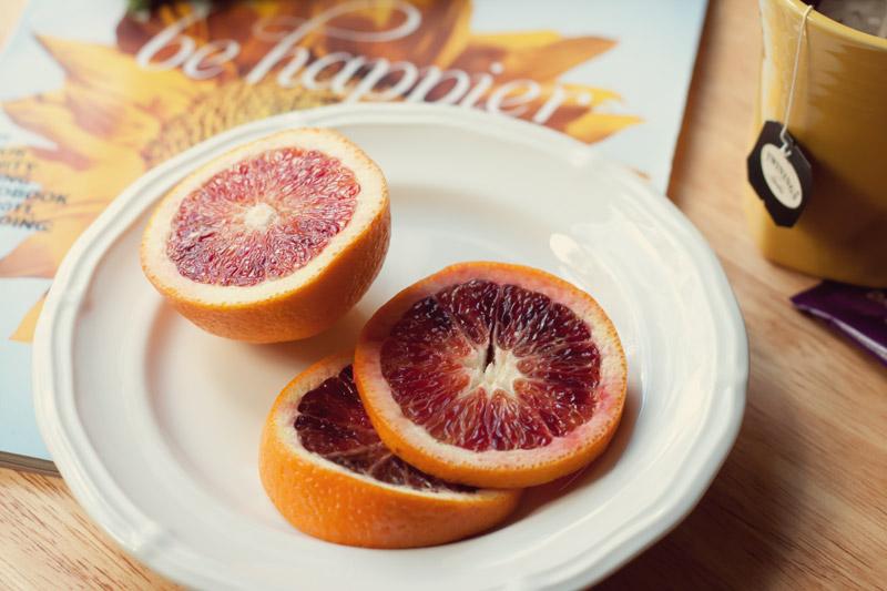 blood oranges tea