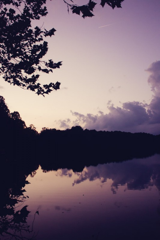 Lake Hollymead at Sunset