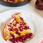 Cranberry Dutch Baby Pancake with Orange Syrup