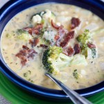 Cheesy Broccoli and Corn Chowder