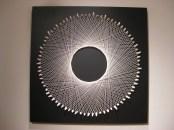 "Cat's Cradle - 48"" x 48"", plaster, wood, alpaca yarn, 2013"