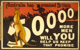 World War I propaganda poster, 1915.