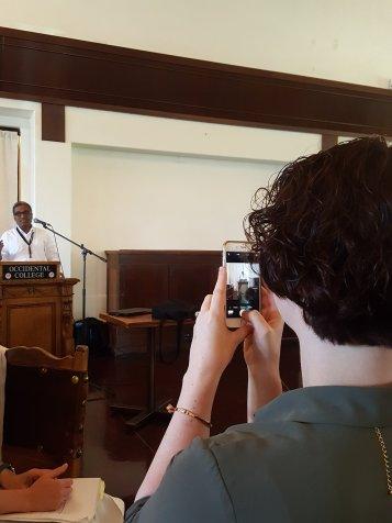 Krishnendu Ray's Presidential Address, photo: Katherine Hysmith