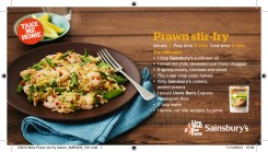 Prawn Stir Fry Recipe Card - Sainbury's Online
