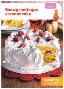 Coconut Cake Recipe Card - Sainsbury's - in store