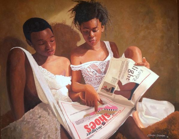 Olumide Oresegun's paintings 4