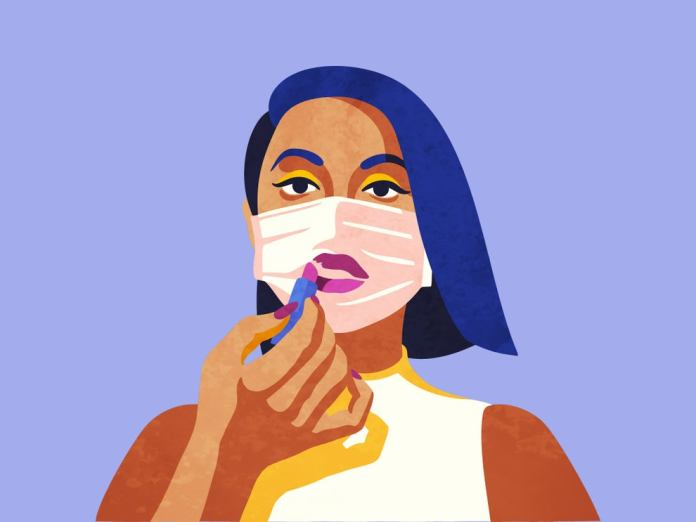 prevent makeup from getting on your mask