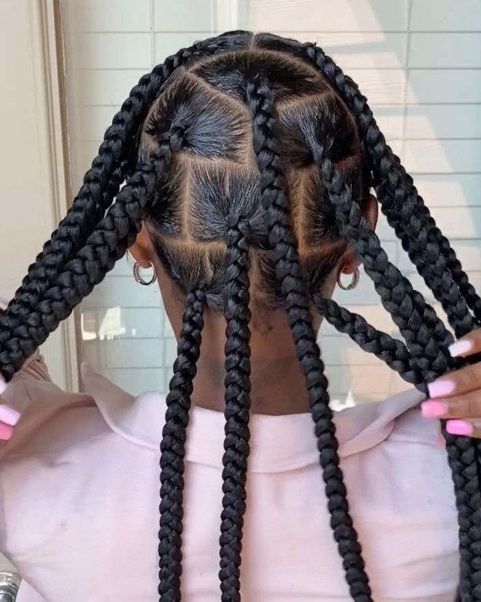 match texture for jumbo knotless braids