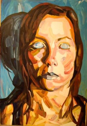 Jenny Saville inspired self portrait