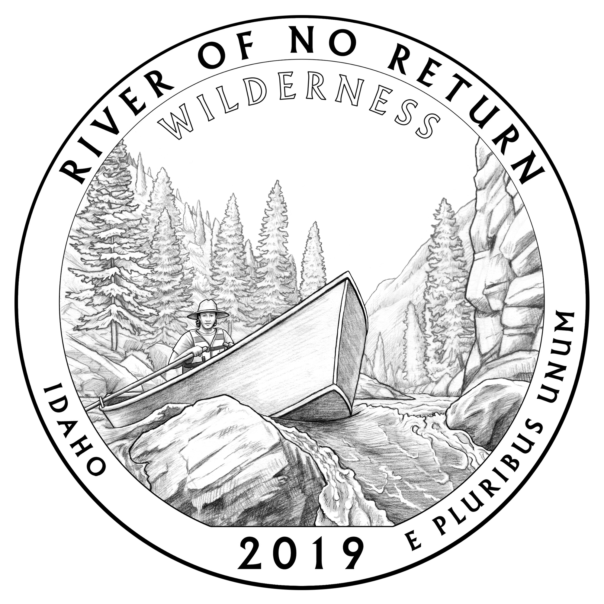 design River No Return Wilderness Idaho quarter