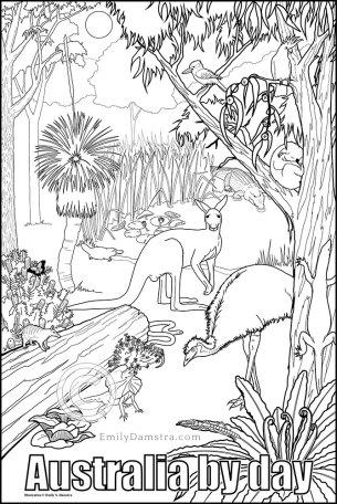 Australia by day illustration