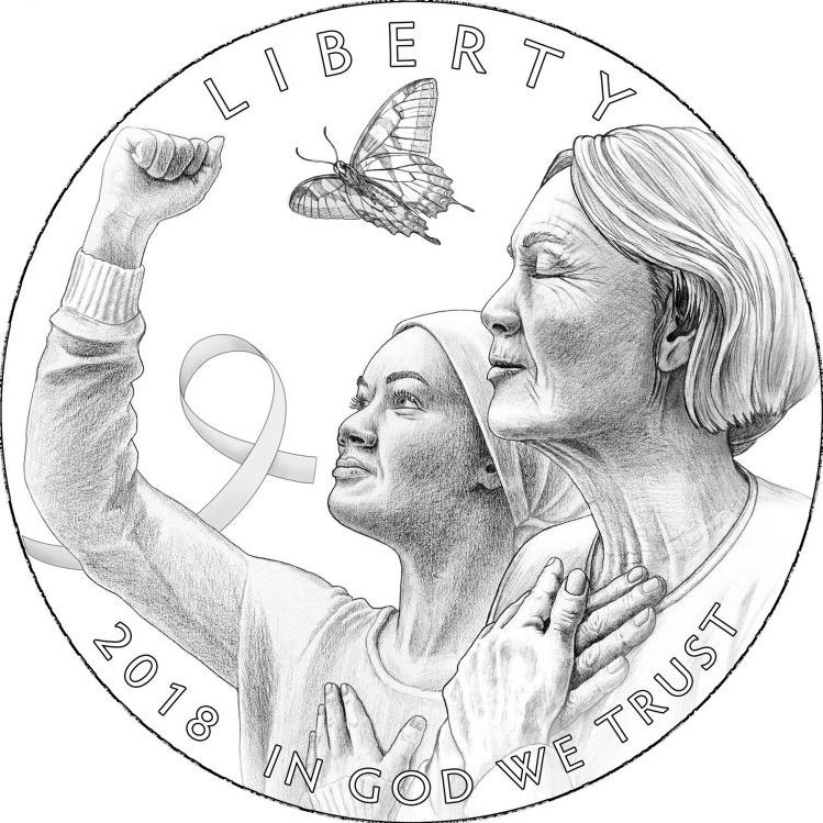 breast cancer awareness coin design