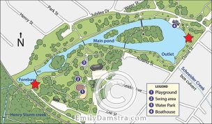 Map of urban park – Emily S. Damstra