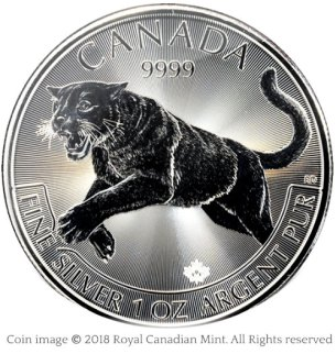Cougar silver bullion coin