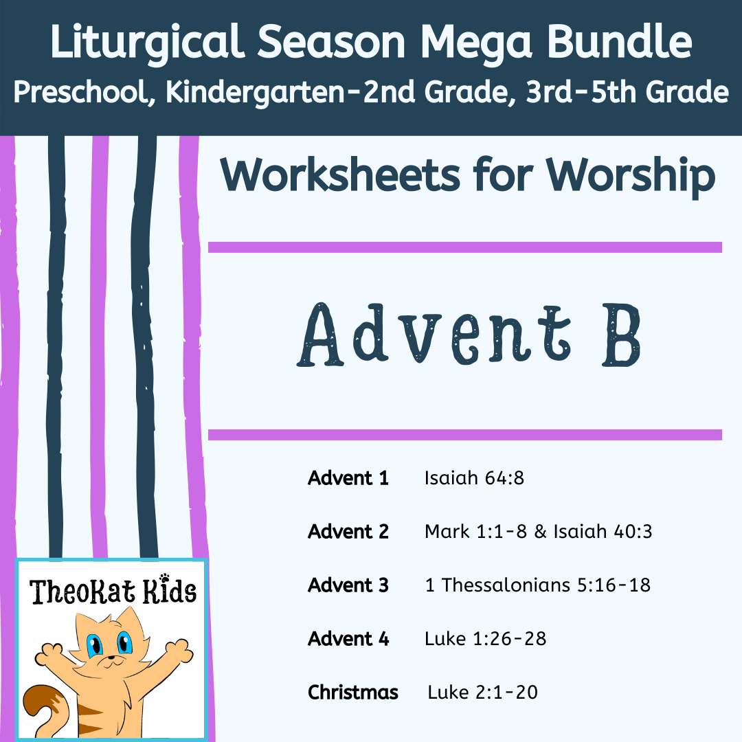 Advent Worksheets For Worship Prek 5th Grade Emily Delikat
