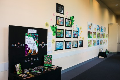 Entire wall of which my artwork and designs were displayed