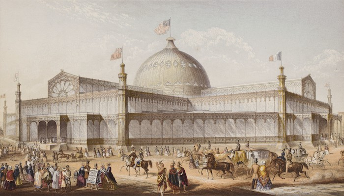 Drawing of 1853 New York Crystal Palace