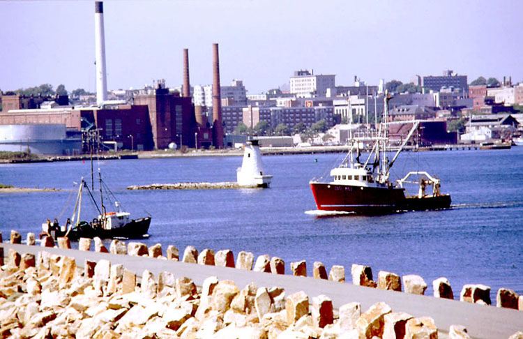 New Bedford, Massachusetts - view from harbor