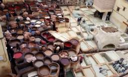 Dyeing mills, Fez, Morocco