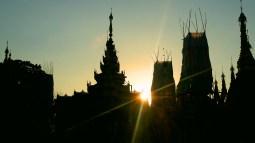Sunset in Yangon.