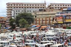 Kampala's Old Taxi Park.