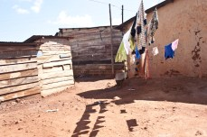 Laundry line in Acholi Quarters.