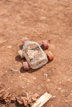 A toy made by a child in Acholi Quarters.