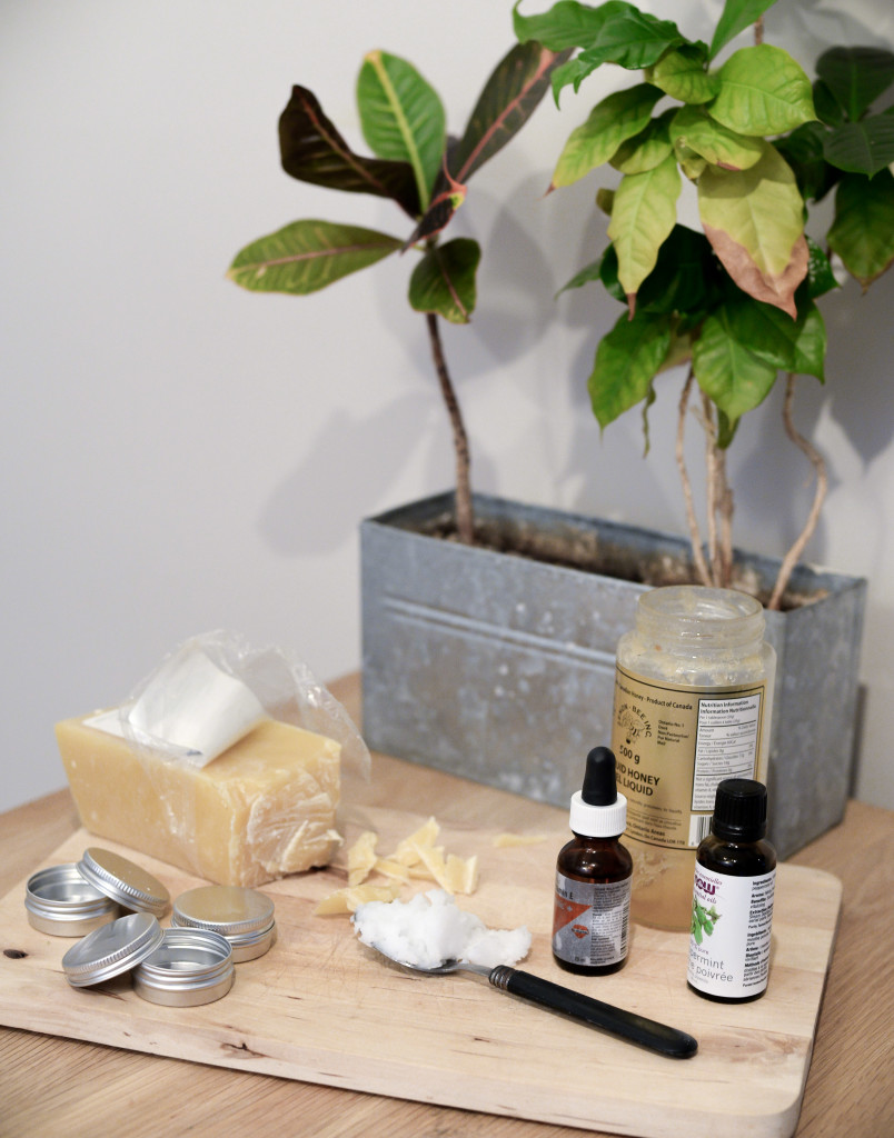 Homemade Peppermint Lip Balm using just 5 ingredients