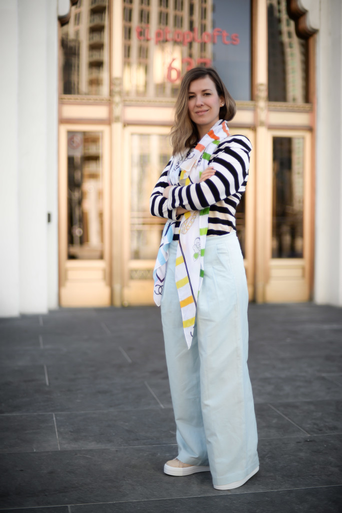 How to wear wide legged pants in summer
