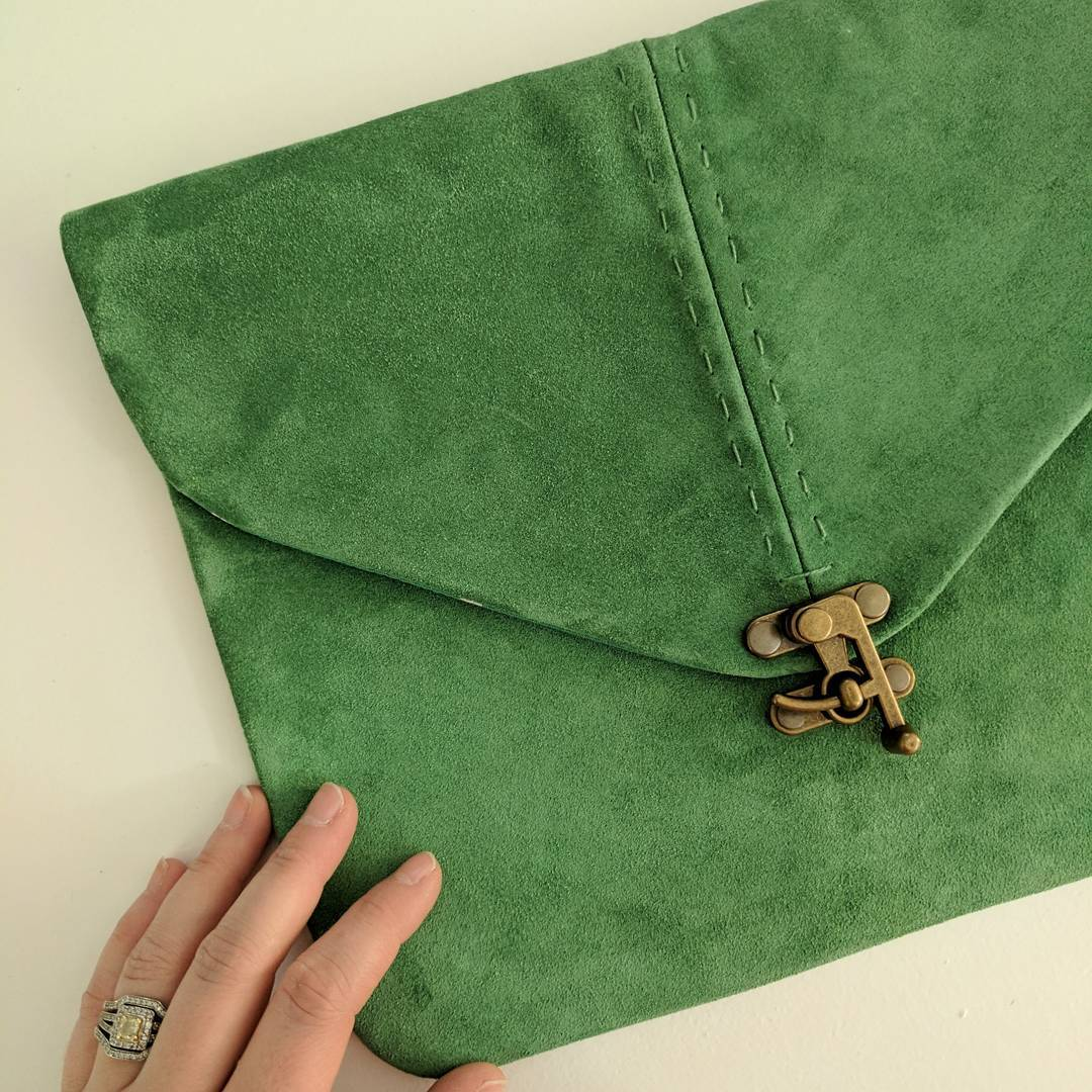 tbt Suede clutches in statement colors I rescued these fromhellip