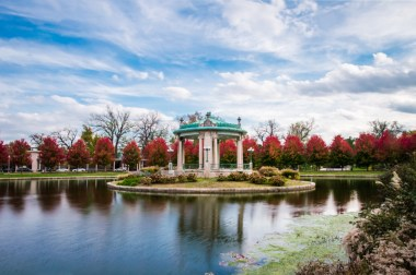 November 2-Couldn't resist returning to the Pagoda Circle for some fall color.
