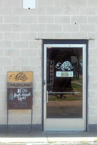Kaya Coffee House's new front entrance facing Main Street.