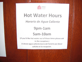 Hot water hours